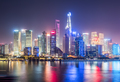 beautiful shanghai cityscape at night - PhotoDune Item for Sale