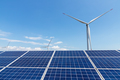 wind power plant and solar panel for renewable energy - PhotoDune Item for Sale