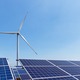 wind turbine and solar panels for clean energy - PhotoDune Item for Sale