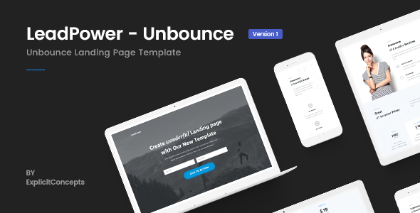 Unbounce Landing Page Template - LeadPower - Unbounce Landing Pages Marketing