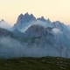 National Nature Park Tre Cime In the Dolomites Alps. Beautiful Nature of Italy. - VideoHive Item for Sale