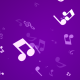 Music Notes Background In Purple Color - VideoHive Item for Sale