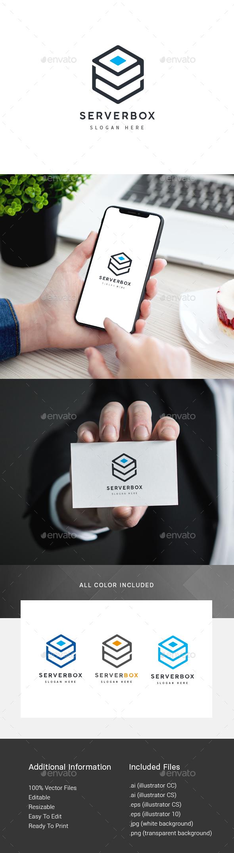 Data Server Box Logo - Symbols Logo Templates