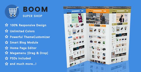 Boom - Clean Super Shopping Responsive PrestaShop 1.7 Theme