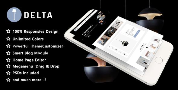 Delta - Creative Furniture and Decor Responsive Prestashop 1.7 Theme - Shopping PrestaShop