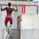 Athlete doing exercises at stadium - PhotoDune Item for Sale