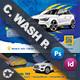 Car Wash Postcard Bundle Templates