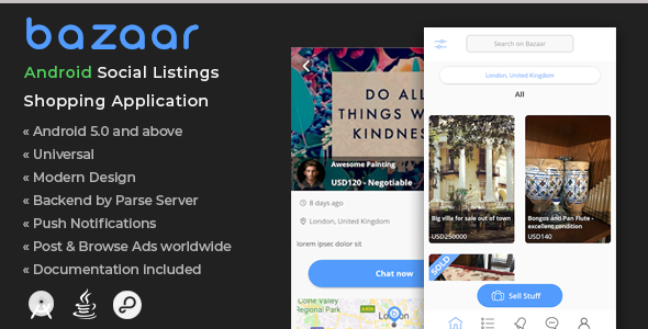 Bazaar | Android Social Listings Shopping Application            Nulled