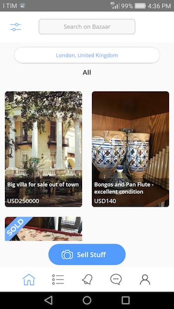 Bazaar | Android Social Listings Shopping Application