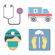Medical and Health Color Vector Icons Set