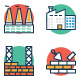 Construction Icons Color Vector Icons Set - GraphicRiver Item for Sale