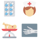 Medical & Health Color Vector Icons Set