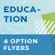Education Flyers 11– 4 Options - GraphicRiver Item for Sale
