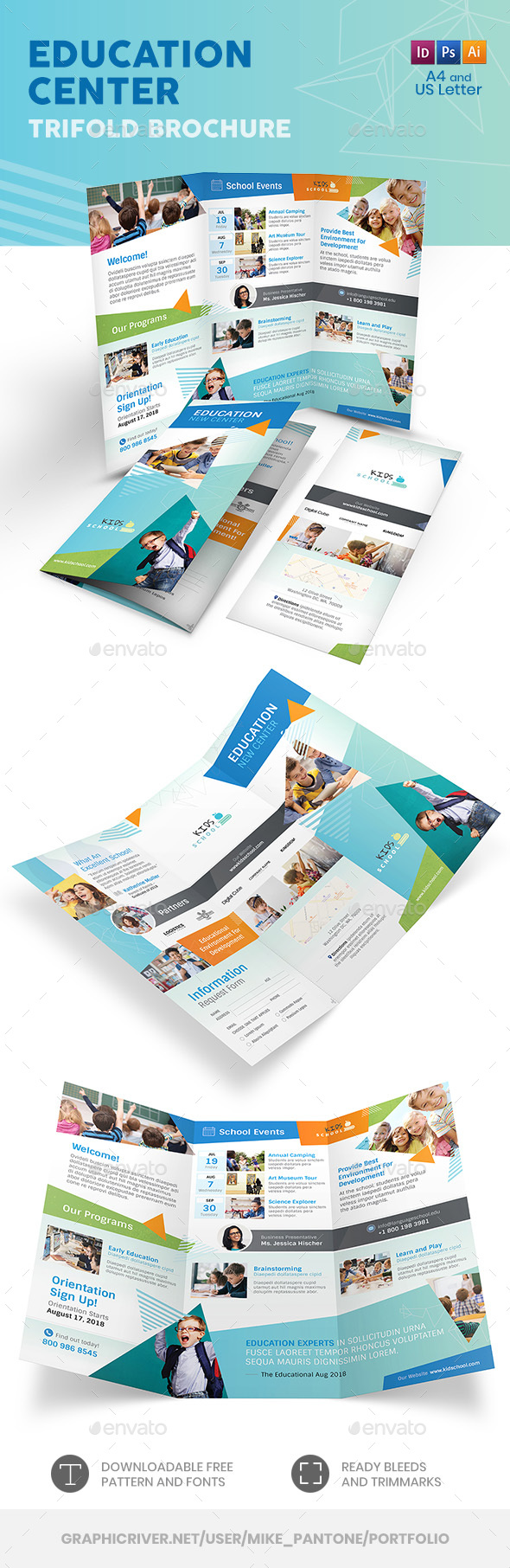 Education Trifold Brochure 11 - Informational Brochures