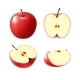 Set of Isolated Colored Red Apples - GraphicRiver Item for Sale
