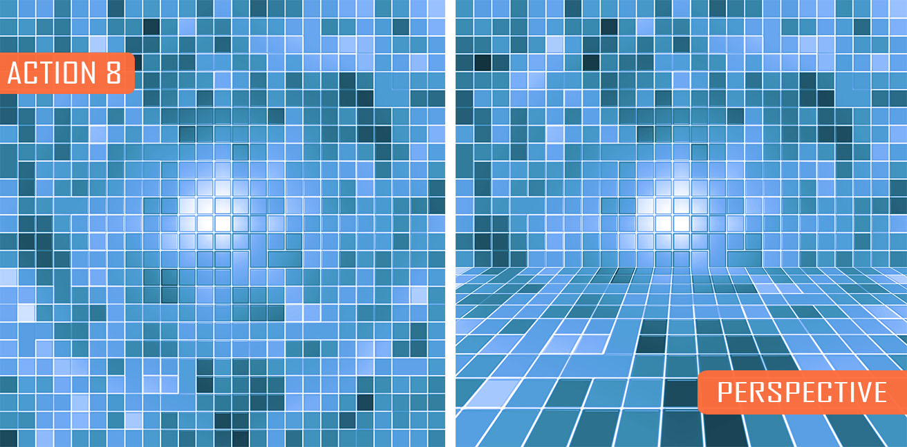 Mosaic Pool Tiles Generator - 8 PS Actions