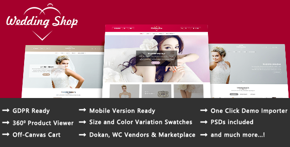 Wedding Shop - Love Paradise Responsive WooCommerce WordPress Theme - WooCommerce eCommerce