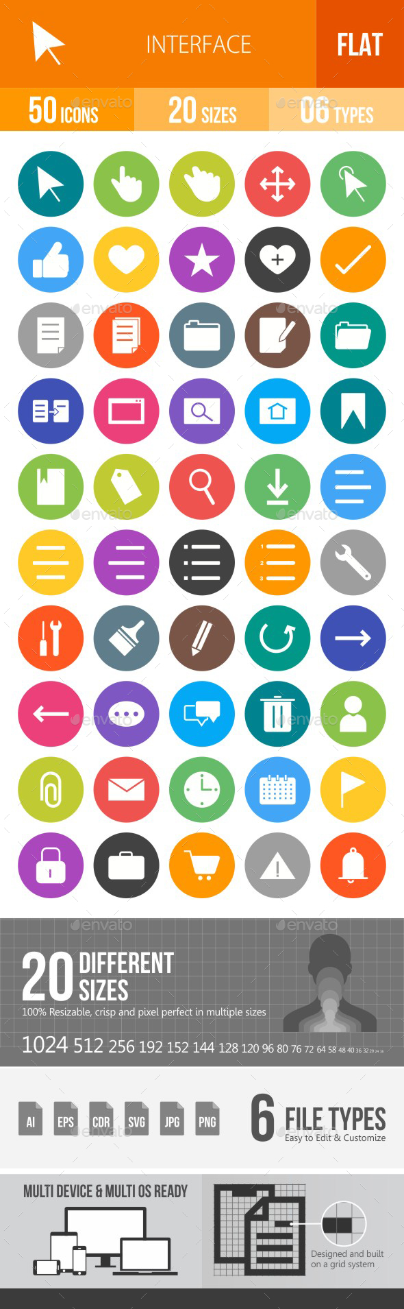 Interface Flat Round Icons - Icons