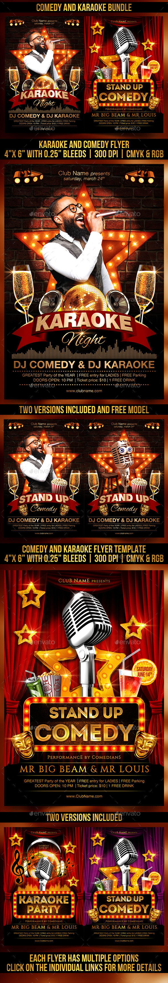 Comedy and Karaoke Bundle - Clubs & Parties Events