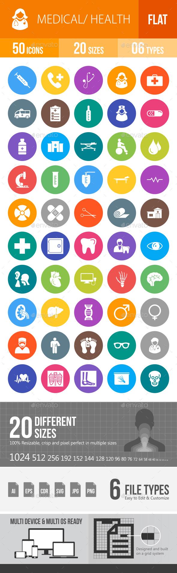Medical Flat Round Icons - Icons