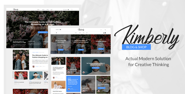 Kimberly - WordPress Blog & Shop Theme - Personal Blog / Magazine