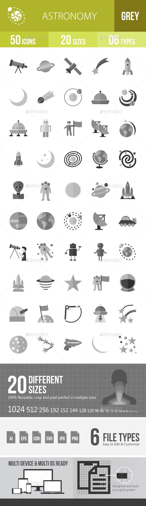 Astronomy Flat Round Icons - Icons