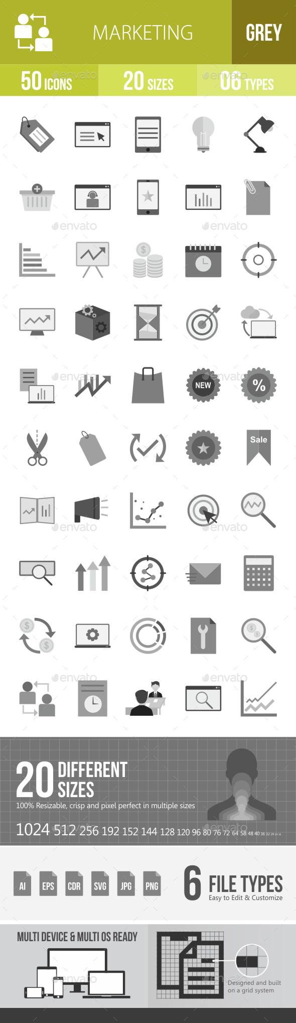 Marketing Flat Round Icons - Icons