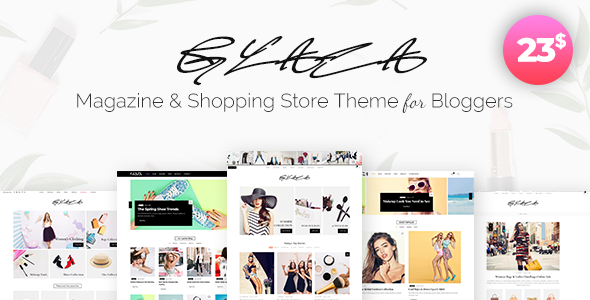 Image of Glaza - Magazine & Shopping Store Theme for Bloggers