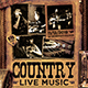 Country Live Flyer Template V3 - GraphicRiver Item for Sale