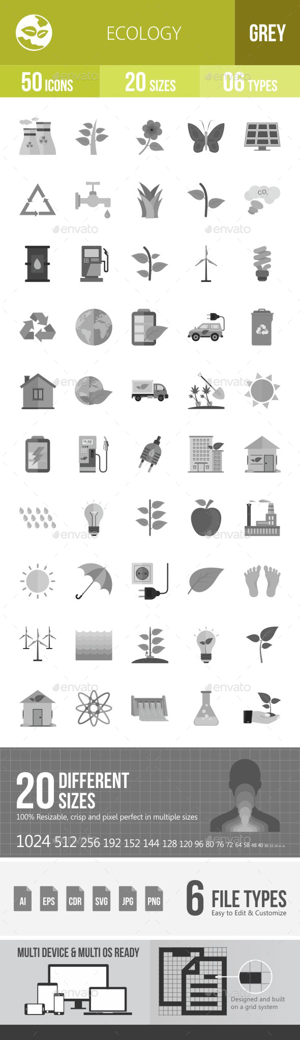 Ecology Flat Round Icons - Icons