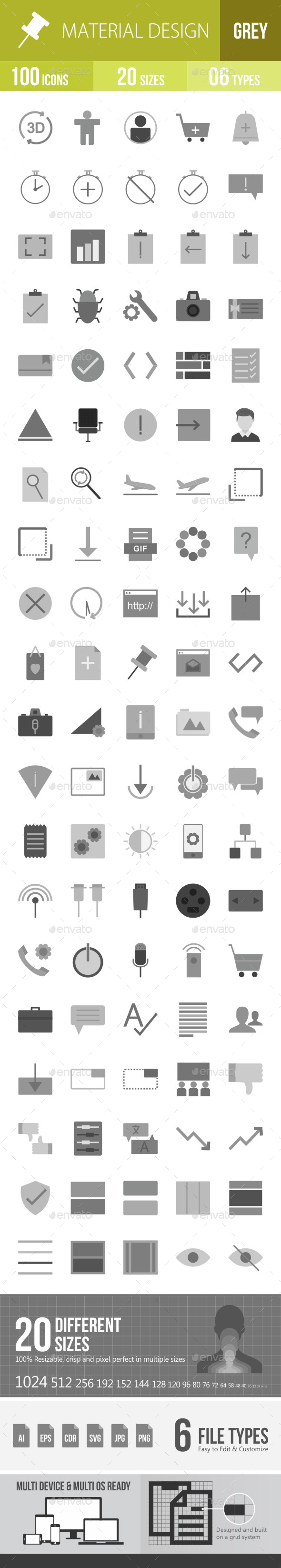 Material Design Flat Round Icons - Icons