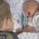 Child Looking After Baby Sister - VideoHive Item for Sale