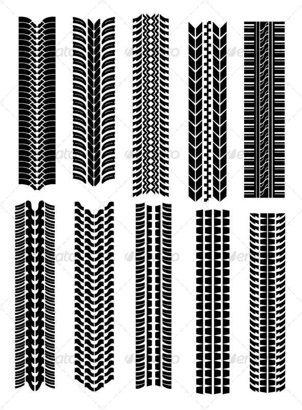 Set of tire shapes - Decorative Vectors