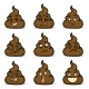 Vector Set of Turd Emoticons - GraphicRiver Item for Sale