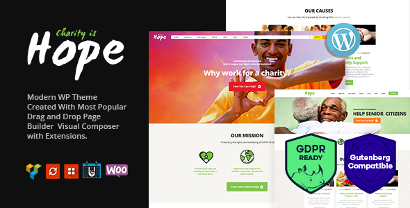 Hope | Non-Profit, Charity & Donations WordPress Theme + RTL - Charity Nonprofit