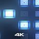 Lights Blue Background 4K - VideoHive Item for Sale