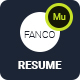 Free Download Fanco - CV Resume Personal Muse Template Nulled