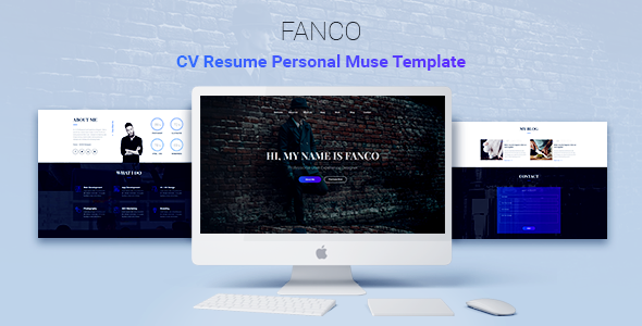 Fanco - CV Resume Personal Muse Template - Muse Templates