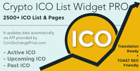 Crypto ICO List Widgets Pro-WordPress ICO Database Plugin            Nulled