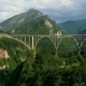 Aerial View of Durdevica Tara Arc Bridge in the Mountains - VideoHive Item for Sale