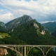 Aerial View of Durdevica Tara Arc Bridge in the Mountains, One of the Highest Automobile Bridges - VideoHive Item for Sale