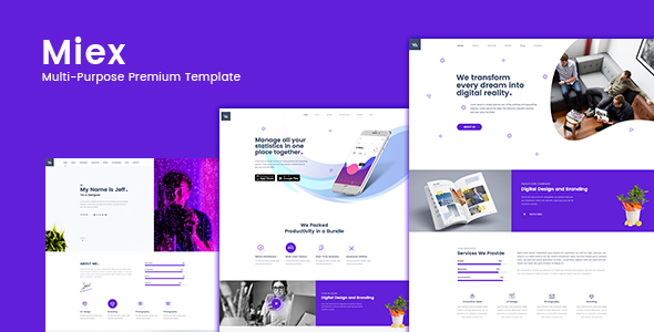 Miex One - One Page Parallax - Business Corporate