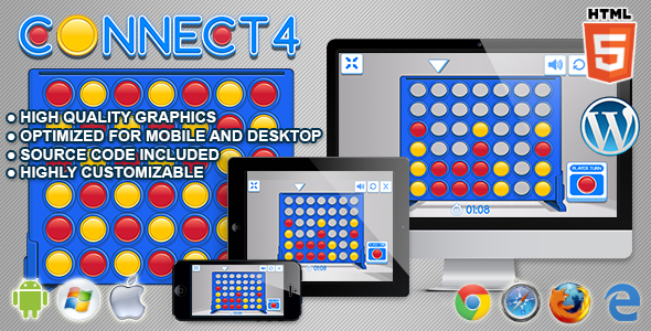 Connect 4 - HTML5 Logic Game - CodeCanyon Item for Sale