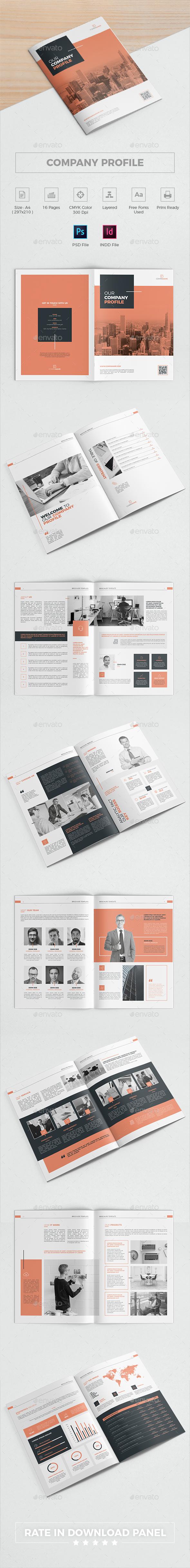 Company Profile Brochure - Brochures Print Templates