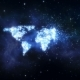 World Map Shining From Flying Stars - VideoHive Item for Sale