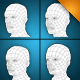 low poly human heads - 3DOcean Item for Sale