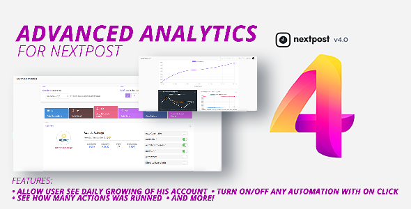 Nextpost Module: Advanced Analytics. Get daily Instagram reports and statistics - CodeCanyon Item for Sale