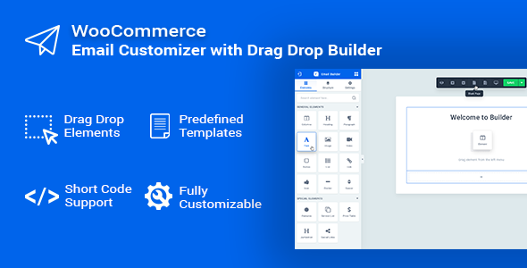 Email Customizer for WooCommerce with Drag Drop Builder - Woo Email Editor            Nulled
