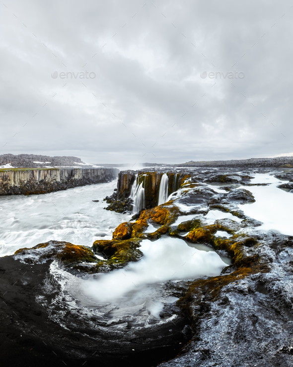 Famous Selfoss waterfall - Stock Photo - Images