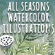 Watercolor all Seasons Illustrations